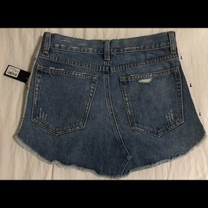 "NWT LF The Brand ""Adriana"" denim distressed skirt"
